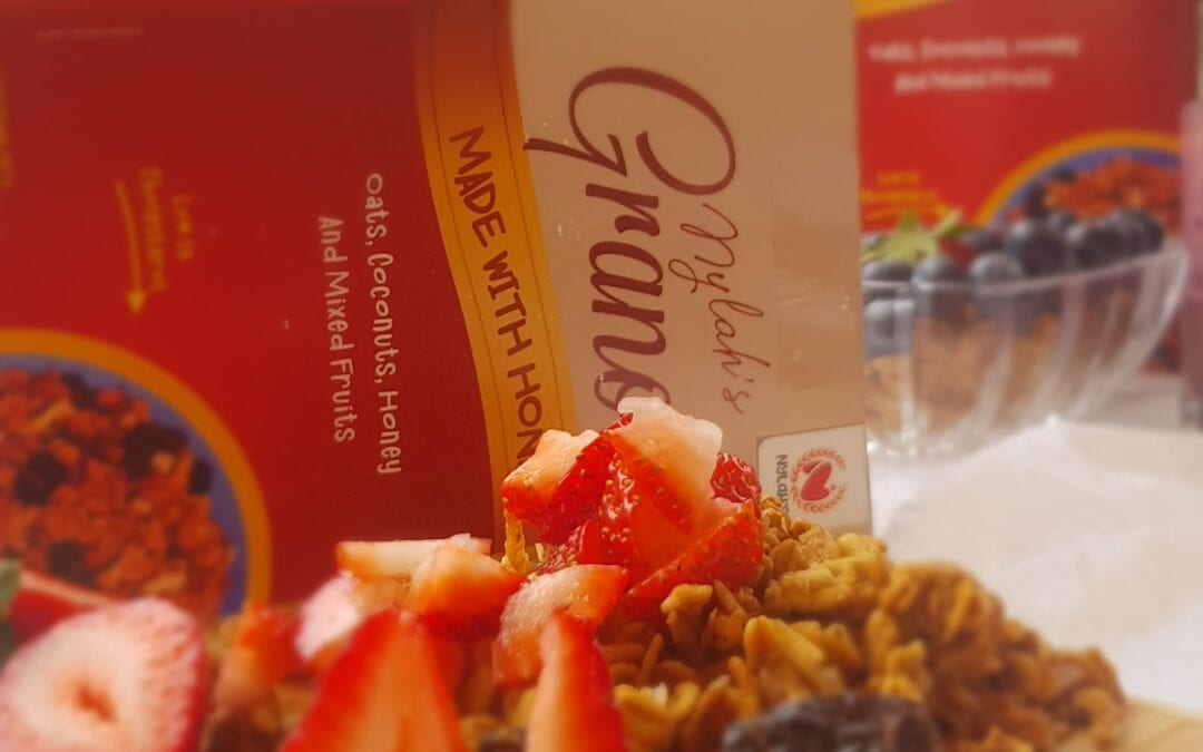 granola made with honey strawberry and nuts - chef nylah's